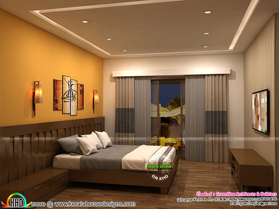 Living room and master bedroom interior designs kerala for Master bedroom designs kerala