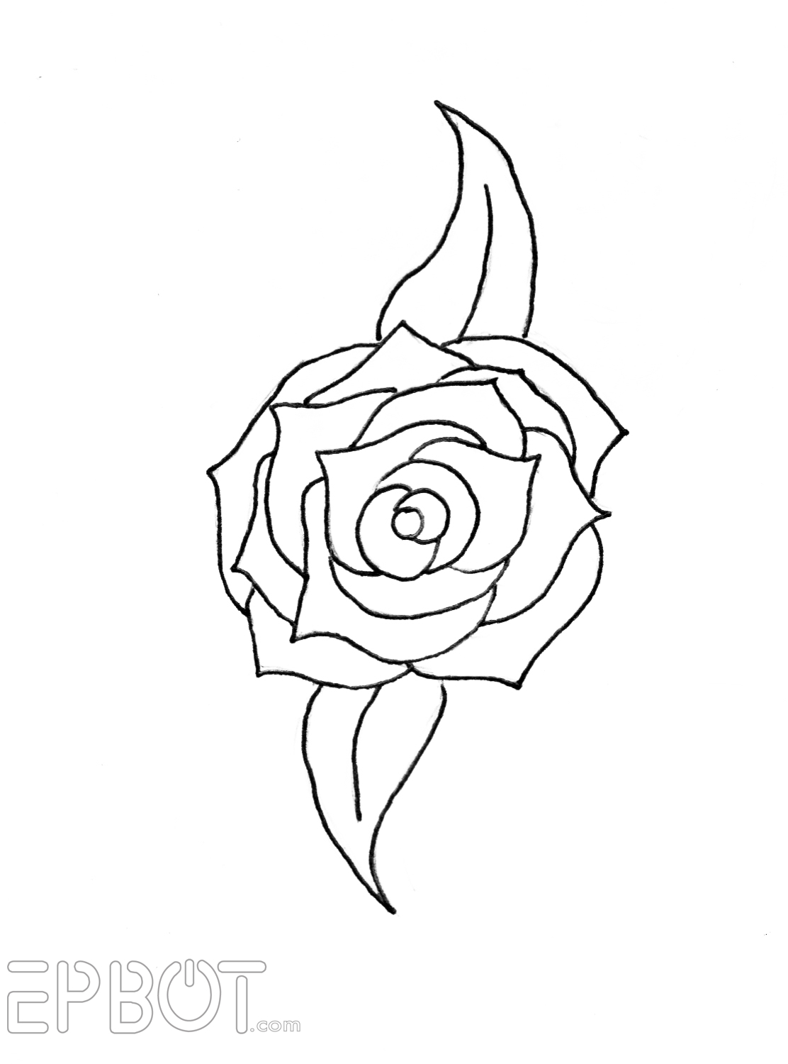 2 to transfer the rose pattern to the foam first trace over the rose lines twice with a pencil put the pencil side down on the foam