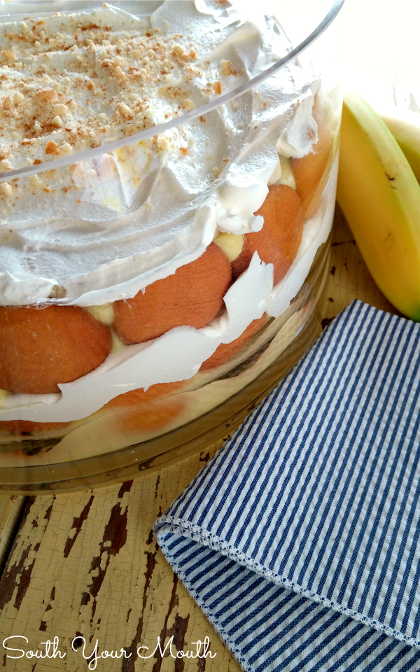 Shortcut Southern Banana Pudding! An easy but still oh-so-delicious recipe for banana pudding that you can whip up quick without all the work!