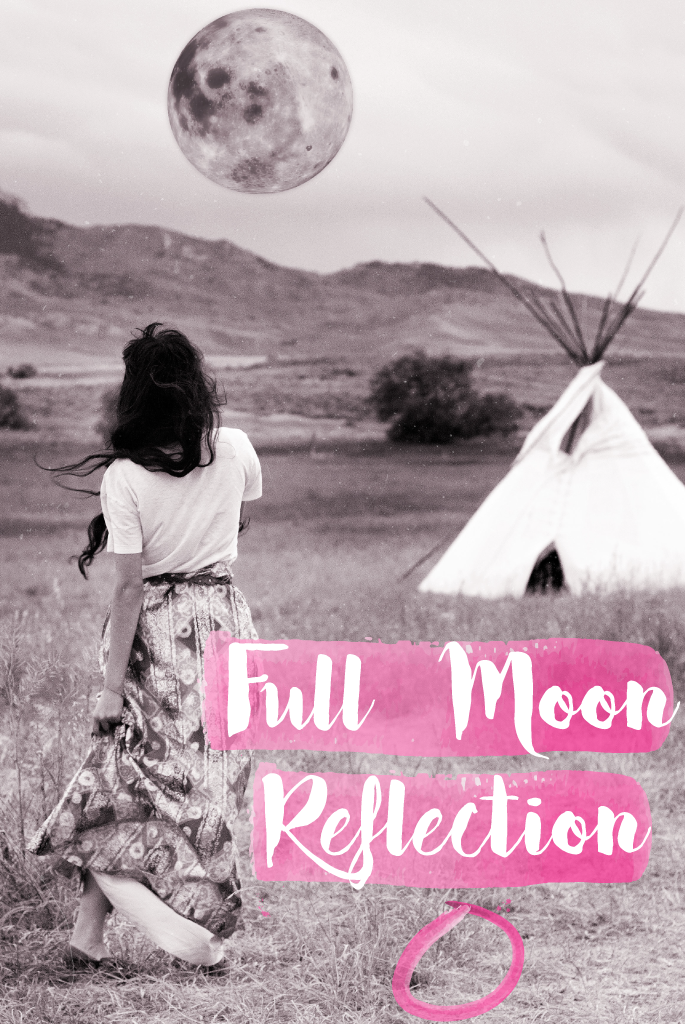 Full Moon reflection | Positivity inspiration boho hippie blog | Bohemian photography | The Wanderful Soul Blog