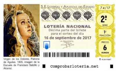 decimos loteria nacional sabado 16-09