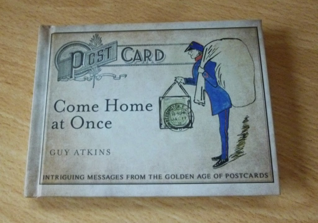 The new postcard book 'Come Home at Once' by Guy Atkins. Currently the number one read on our coffee table