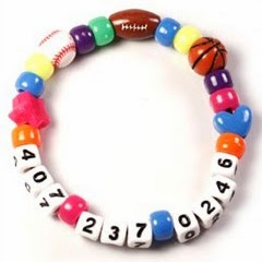 Pony bead phone number bracelet