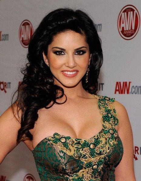 Sunny Leone in One Shoulder Green Designer Dress Walking @ Ramp