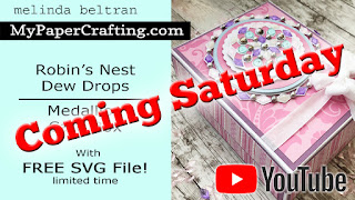 Robin's Nest DT Card Box w FREE SVG