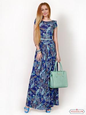 vestidos color azul de verano