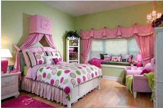 Pretty Girly Room, Cute Color To Paint Girly Beroom, How To Paint Decorating  Girly
