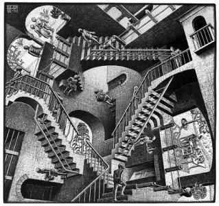 Uncanny Geometric Illusion Space Maurits Cornelis Escher
