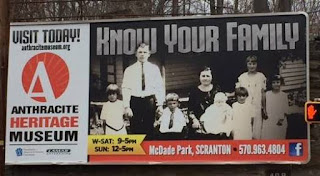 Anthracite Museum billboard - Know Your Family