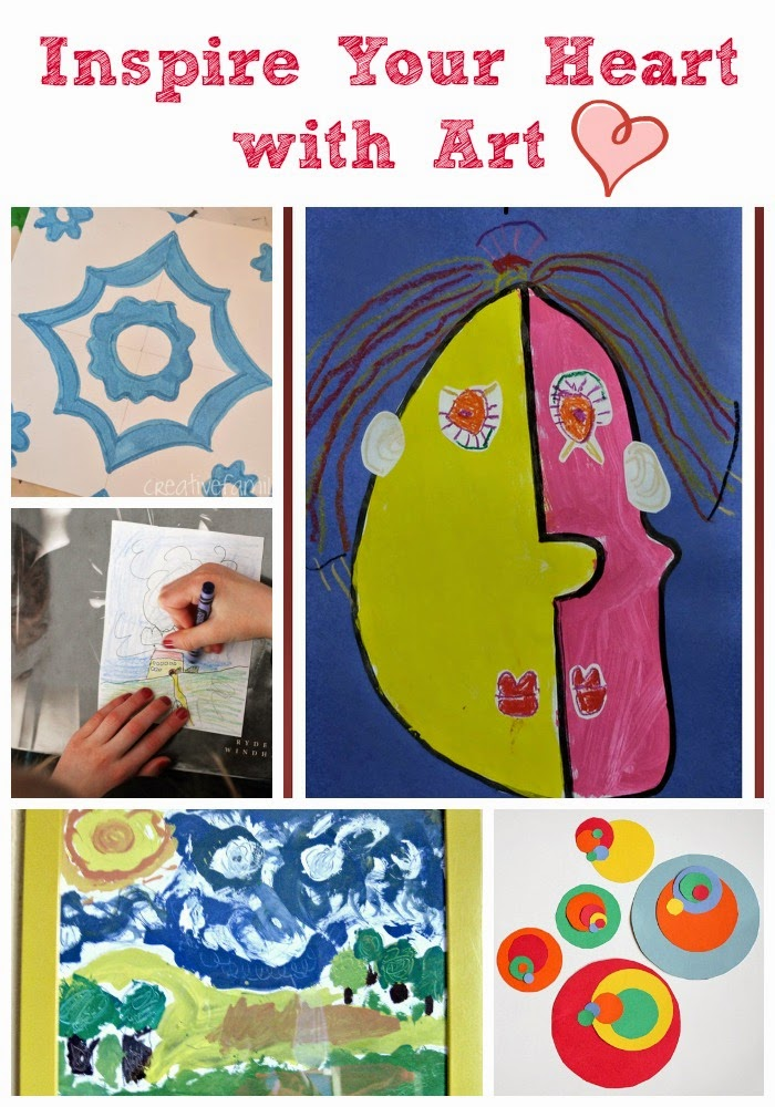 Hands-on art activities for kids inspired by famous works of art.