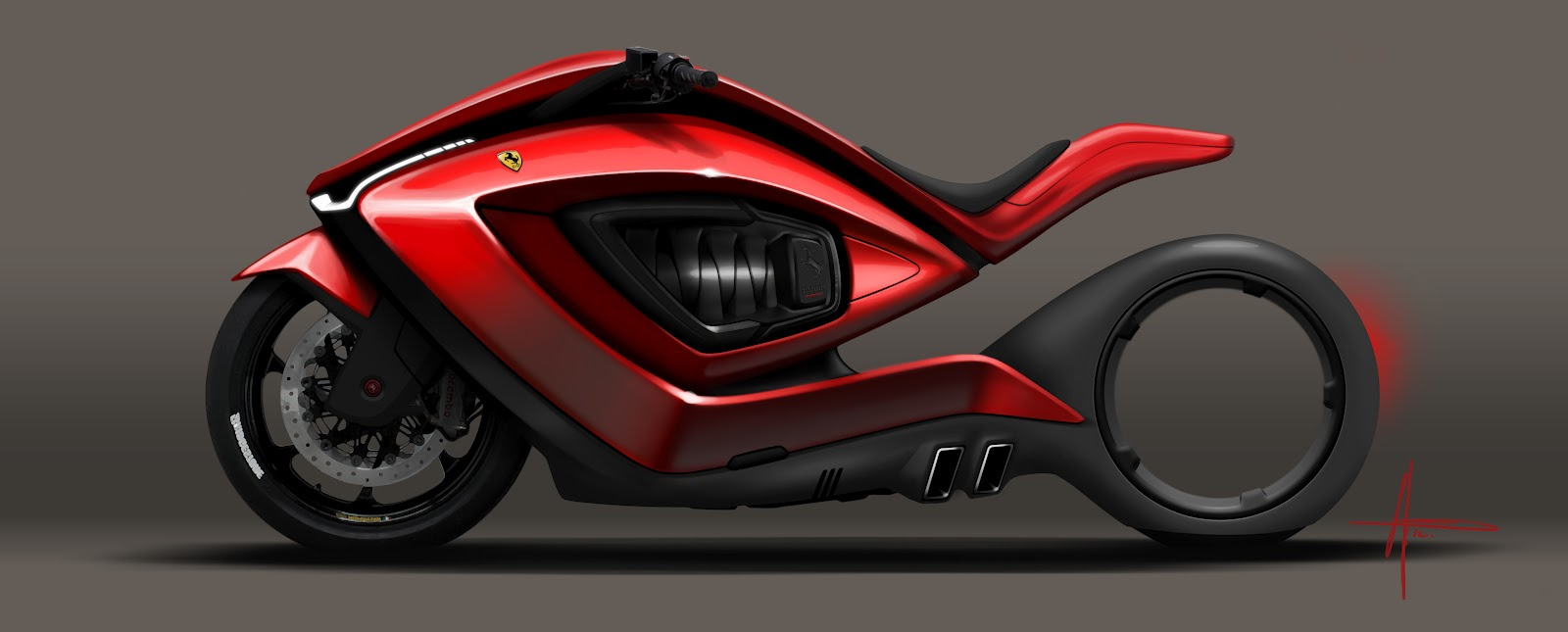 Ferrari Motorcycle Tes...