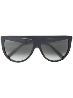 replica celine black acetate thin shadow sunglasses