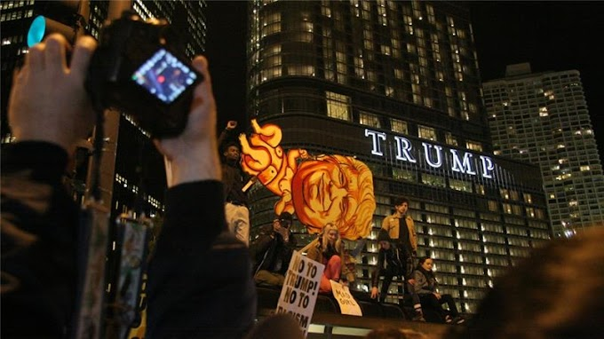 Donald Trump's win sparks protests in New York, Chicago