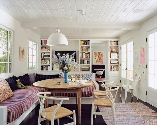Amanda Peet at home in Vogue