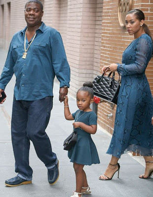 Comedian Tracy Morgan steps out with his wife and cute daughter