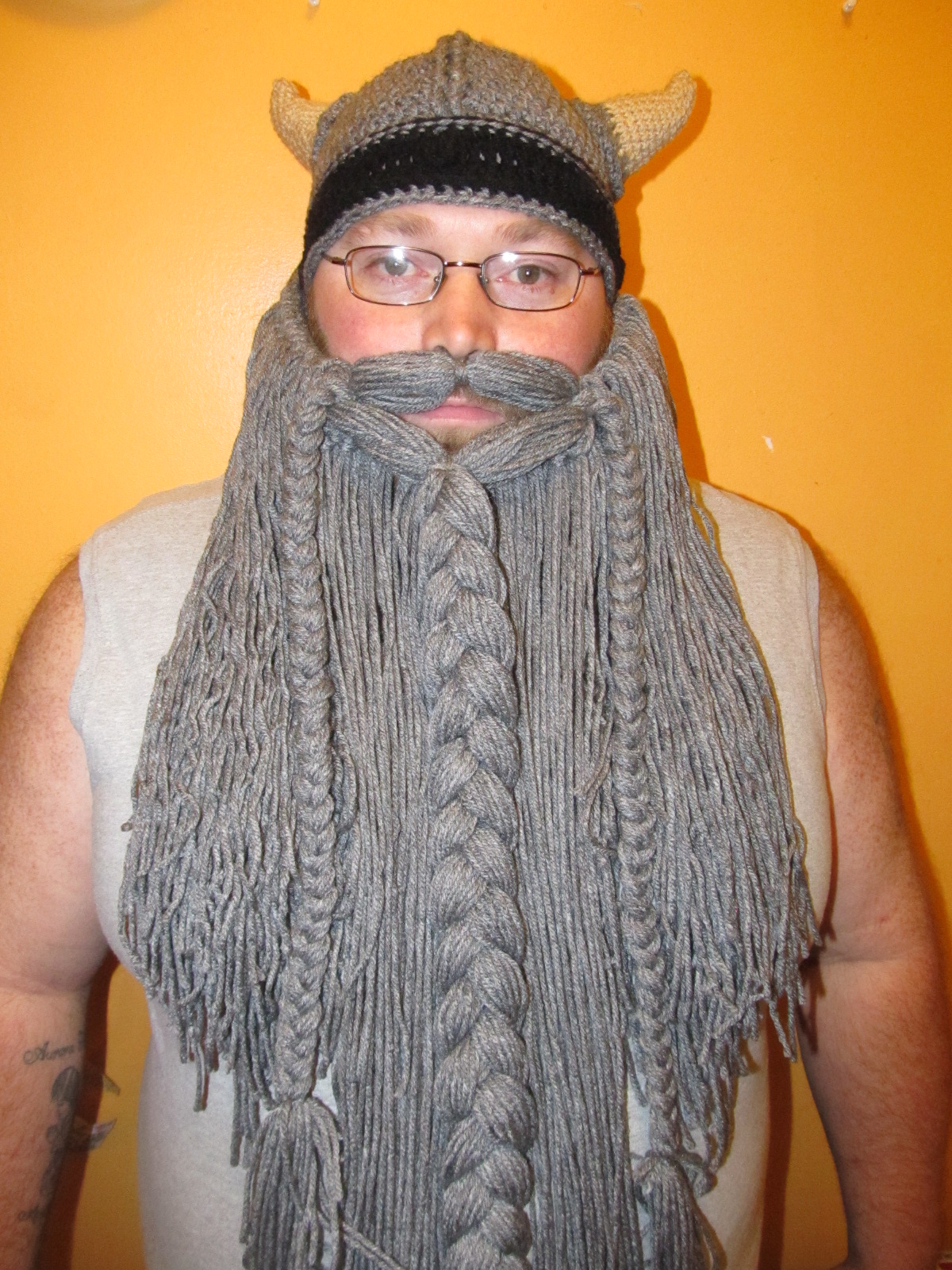 The beard pattern is a free pattern that I changed up 43f10666236