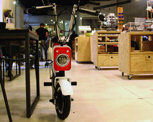 Tinuku Vanda Electrics launches electric bike Motochimp in Shenzhen International Industrial Design Fair in China