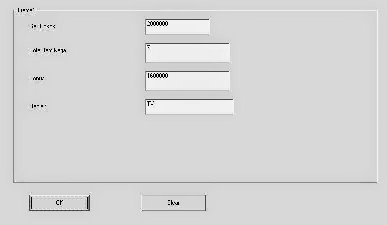 Program Gaji dan Bonus Sederhana Visual Basic