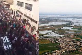 VIDEOS: ciudadanos protestan al gobierno por no brindar ayuda de las inundaciones en iran.