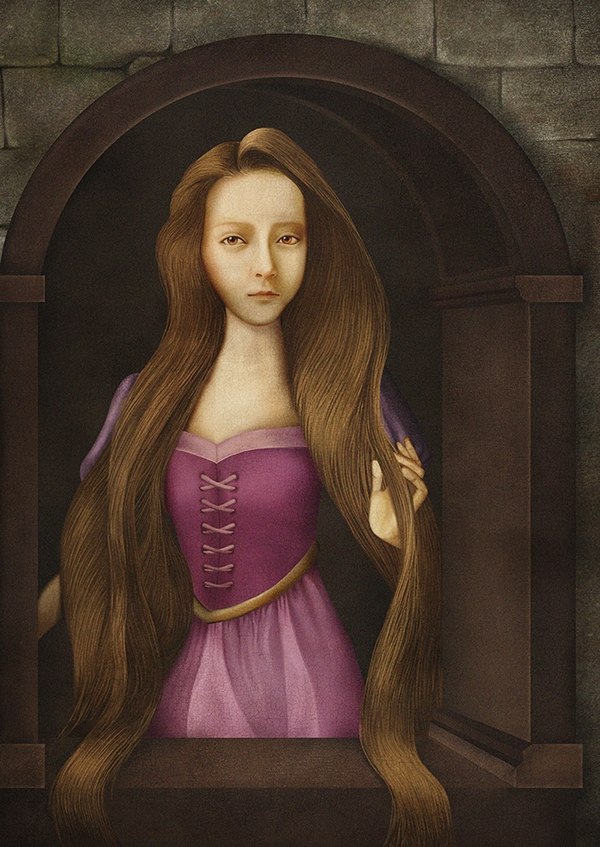 08-Rapunzel-Thunyamon-Charoensuttikul-Illustrations-of-Disney-Princesses-with-a-Renaissance-Twist-www-designstack-co