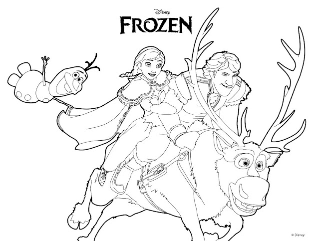 Olaf From Frozen Coloring Page  Ana Olaf  Kristoff Coloring Page