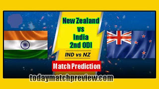 Today 2nd Odi Match Prediction India vs New Zeland Dream 11 Team