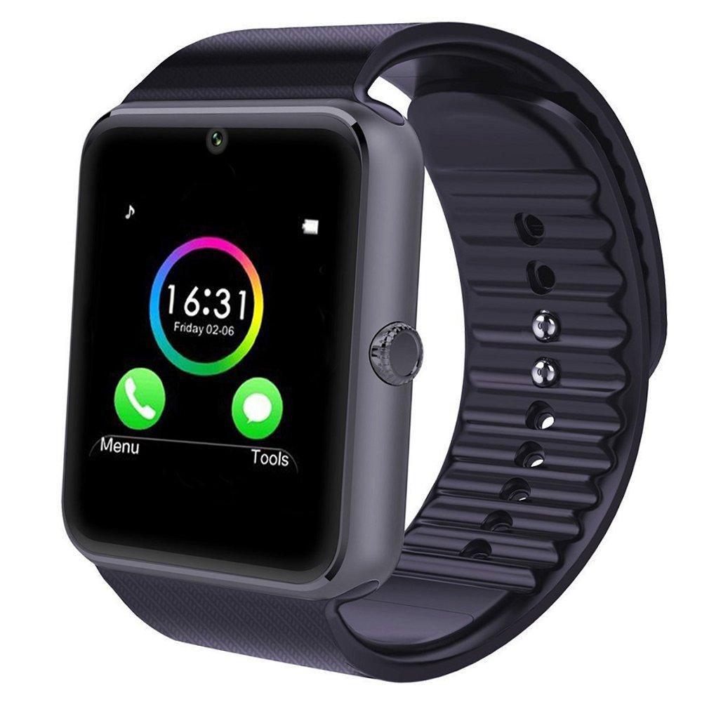 YAMAY Bluetooth Smartwatch Telefono Touch Screen Orologio da Polso Fitness Watch con Sim Card Slot / Fotocamera / Pedometro / Tracker Sonno/ Telecomando Acquisizione/Notifiche Chiamate SMS Whatsapp Facebook Skype