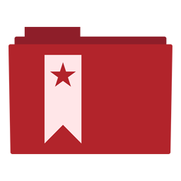 Preview of red bookmark, star,  folder icon