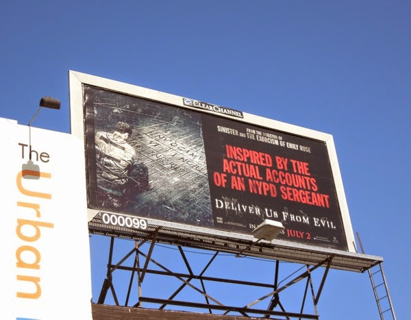 Deliver Us From Evil straightjacket billboard