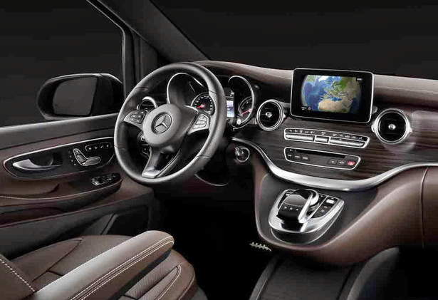 Mercedes-V-Class Interior, Amiscar, car news
