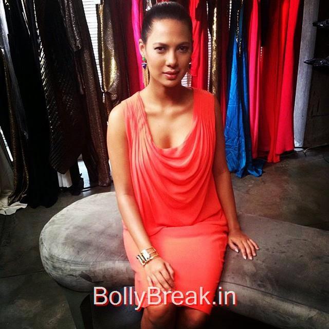 rochelle rao , chic in isha rya , popa r t , fringe , earrings , and gaurav gupta , tangerine , dress , for bp t 2 2014 , / styled by @kiaan_styles, rochelle rao Latest Hot Pics From Events