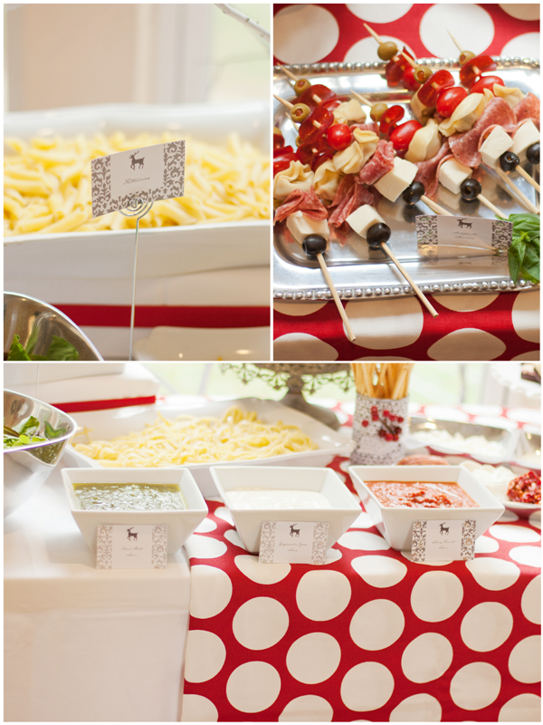 An Italian Red & White Holiday Dinner Party - BirdsParty.com