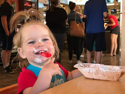 June 21, 2018 Ending a great vacation with ice cream