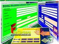 Download Aplikasi Soal Ujian Untuk Jenjang SD SMP SMA Format Excel Gratis