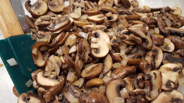 Crimini Mushroom and Caramelized Onion Lasagna Filling