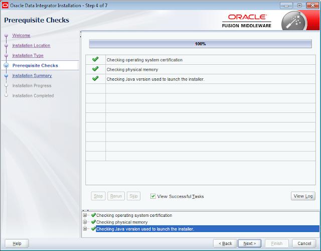 ODI 12c Installer Prerequisite Checks