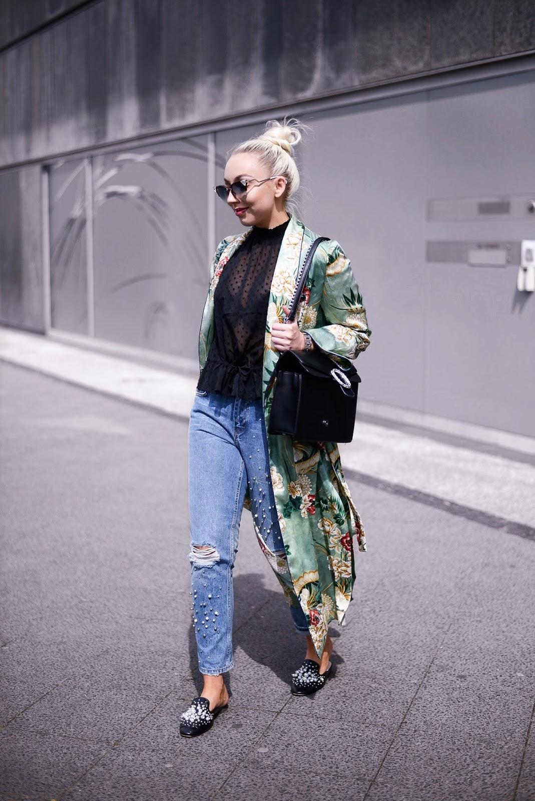 zara kimono with print_kimono mit muster_fashionblogger streetstyle