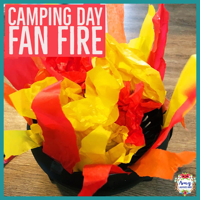 Click here to read all about Camping Day in the classroom.  Find fun read alouds and easy to  implement activities to bring learning to life in your classroom.  {kindergarten, first, second, third, fourth, fifth, 1st, 2nd, 3rd, 4th, 5th, classroom, homeschool}