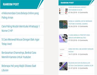 memasang widget random post keren di blogspot