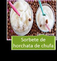 SORBETE DE HORCHATA DE CHUFA