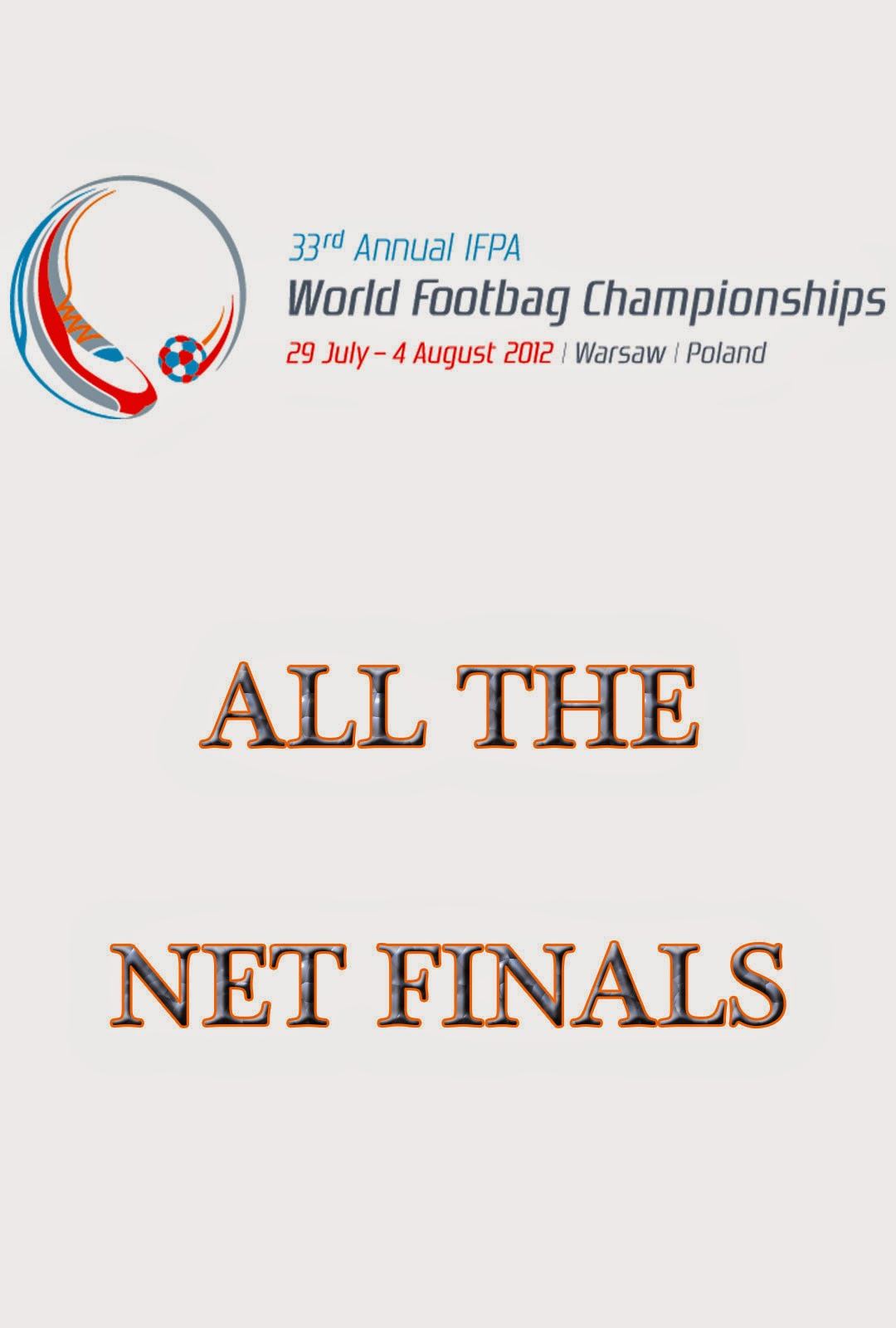 2012 World Footbag Championships net finals Virtual DVD poster
