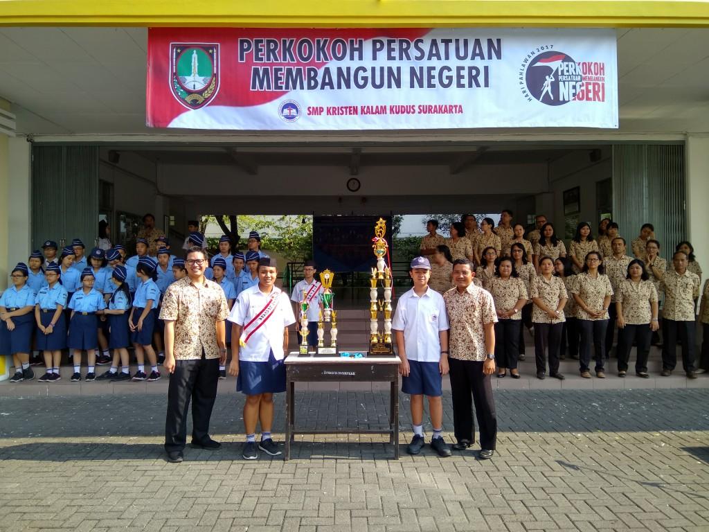 Apresiasi Prestasi Siswa SMP Kristen Kalam Kudus Surakarta