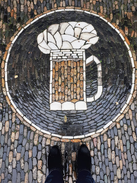 Mosaics in the street of Freiburg