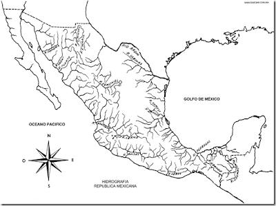 Mapa De Ríos De México Para Colorear 4 Dibujo