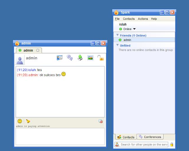 chating dengan jabber im client