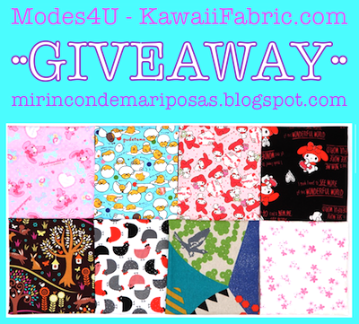 Sorteo de Modes4U - Kawaii Fabric - Mi rincón de mariposas