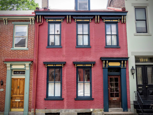 Colorful Victorian era home in the Mexican War Streets neighborhood of Pittsburgh