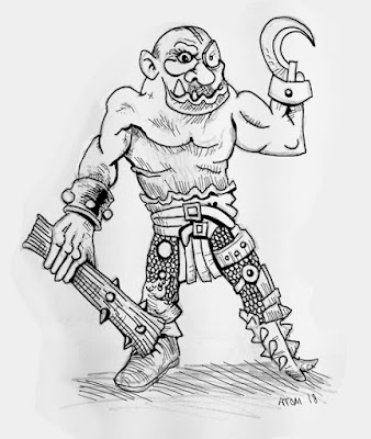 Concept Art for final Ogre. If Kickstarter is funded I will include a free 10th Ogre based on this Art.