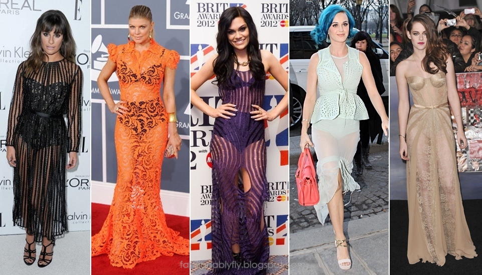 See Through Gowns Celebs Took Sheer To A Whole New Level This Year Forget Showing Little Skin In 2017 Las Were Off Their Undergarments And