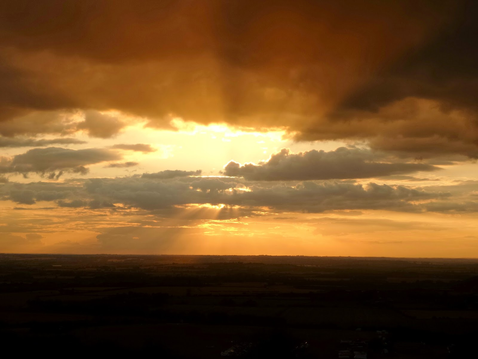 A Sunset over Dunstable Downs